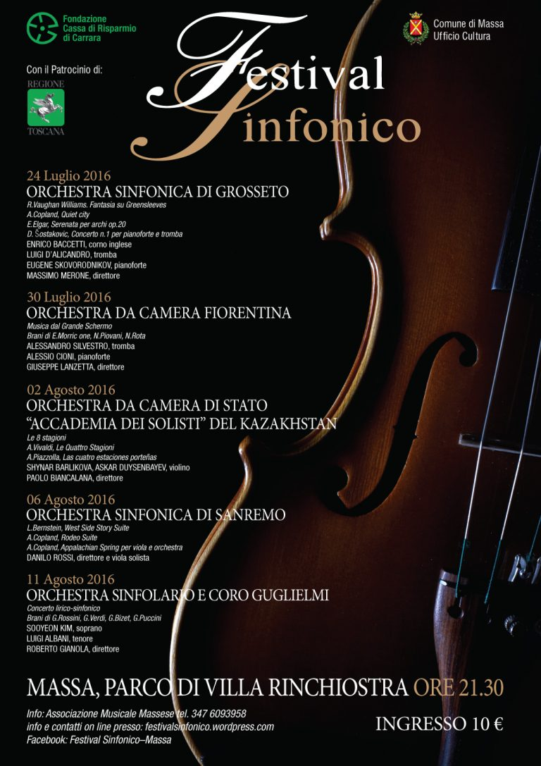 Manifesto Festival Massa Carrara 2016